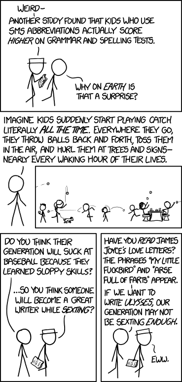 XKCD Writing Skills strip